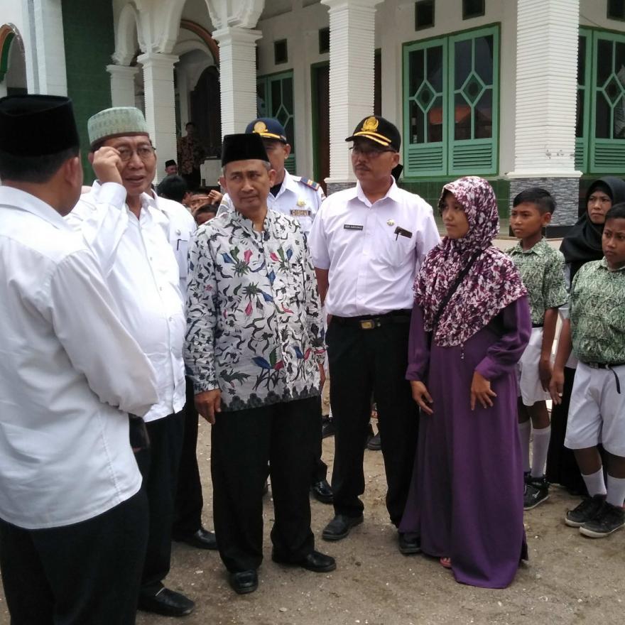 Kunjungan Bupati Tuban di Madin Masjid Sunan Kalijogo dan MI Al Iman Desa Bader